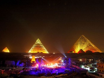 Sound and Light Show at the Pyramids Cairo